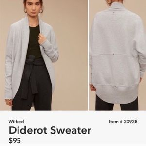 Wilfred Diderot sweater grey size small